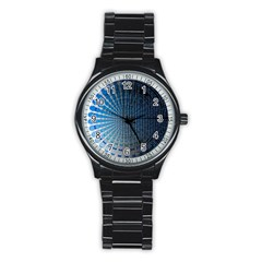Data Computer Internet Online Stainless Steel Round Watch