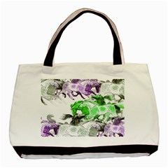 Horse Horses Animal World Green Basic Tote Bag (two Sides)