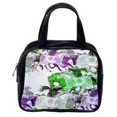 Horse Horses Animal World Green Classic Handbags (one Side)