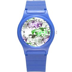 Horse Horses Animal World Green Round Plastic Sport Watch (s) by BangZart