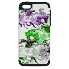 Horse Horses Animal World Green Apple Iphone 5 Hardshell Case (pc+silicone)