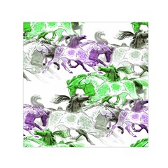 Horse Horses Animal World Green Small Satin Scarf (square)