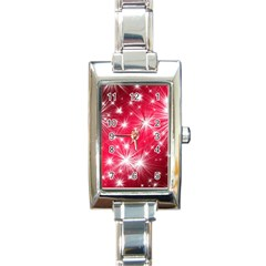 Christmas Star Advent Background Rectangle Italian Charm Watch by BangZart