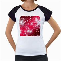 Christmas Star Advent Background Women s Cap Sleeve T
