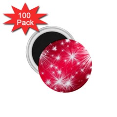 Christmas Star Advent Background 1 75  Magnets (100 Pack)  by BangZart