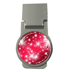 Christmas Star Advent Background Money Clips (round)