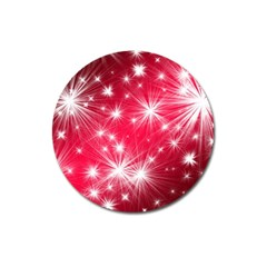 Christmas Star Advent Background Magnet 3  (round)