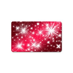 Christmas Star Advent Background Magnet (name Card)