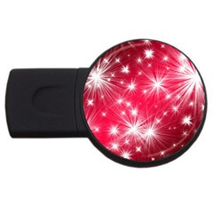 Christmas Star Advent Background Usb Flash Drive Round (2 Gb) by BangZart