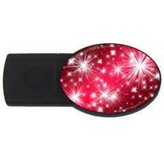 Christmas Star Advent Background Usb Flash Drive Oval (2 Gb) by BangZart