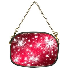 Christmas Star Advent Background Chain Purses (two Sides)