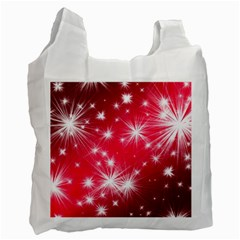 Christmas Star Advent Background Recycle Bag (two Side)
