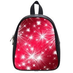 Christmas Star Advent Background School Bag (small) by BangZart