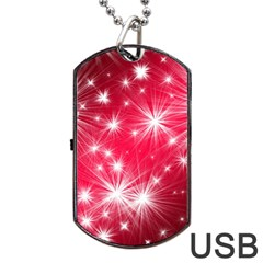 Christmas Star Advent Background Dog Tag Usb Flash (two Sides) by BangZart