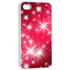 Christmas Star Advent Background Apple Iphone 4/4s Seamless Case (white)