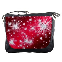Christmas Star Advent Background Messenger Bags by BangZart