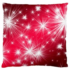 Christmas Star Advent Background Large Cushion Case (two Sides) by BangZart