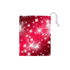 Christmas Star Advent Background Drawstring Pouches (small)