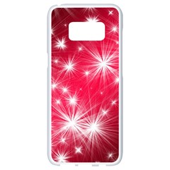 Christmas Star Advent Background Samsung Galaxy S8 White Seamless Case