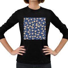 Golden Roses Women s Long Sleeve Dark T Shirts by jumpercat