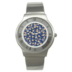Golden Roses Stainless Steel Watch by jumpercat