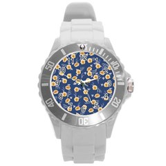 Golden Roses Round Plastic Sport Watch (l) by jumpercat