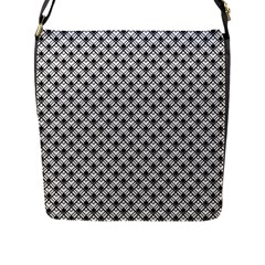 Geometric Scales Pattern Flap Messenger Bag (l)  by jumpercat
