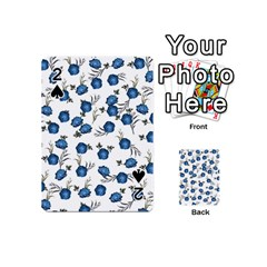 Blue Roses Playing Cards 54 (mini)  by jumpercat