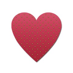 Strawberry Pattern Heart Magnet by jumpercat