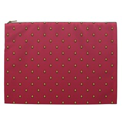 Strawberry Pattern Cosmetic Bag (xxl)  by jumpercat