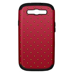Strawberry Pattern Samsung Galaxy S Iii Hardshell Case (pc+silicone) by jumpercat