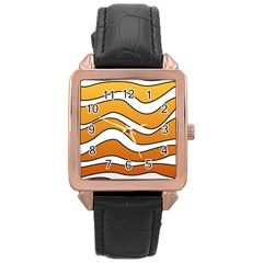 Nemo Rose Gold Leather Watch  by jumpercat