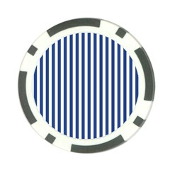 Blue Stripes Poker Chip Card Guard by jumpercat