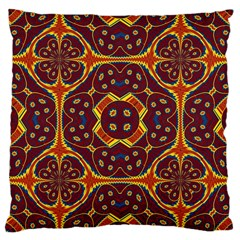 Geometric Pattern Large Cushion Case (two Sides) by linceazul