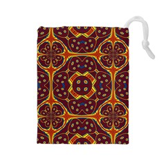 Geometric Pattern Drawstring Pouches (large)  by linceazul