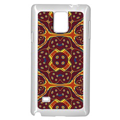 Geometric Pattern Samsung Galaxy Note 4 Case (white) by linceazul