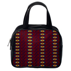 Geometric Pattern Classic Handbags (one Side) by linceazul