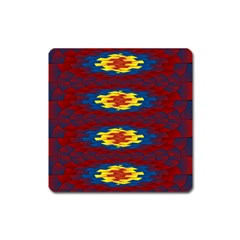Geometric Pattern Square Magnet by linceazul