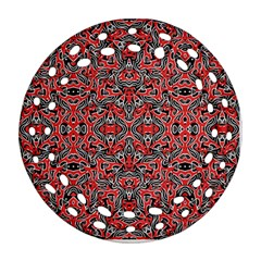Exotic Intricate Modern Pattern Round Filigree Ornament (two Sides) by dflcprints