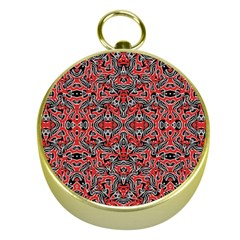Exotic Intricate Modern Pattern Gold Compasses by dflcprints