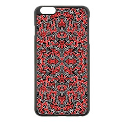 Exotic Intricate Modern Pattern Apple Iphone 6 Plus/6s Plus Black Enamel Case by dflcprints