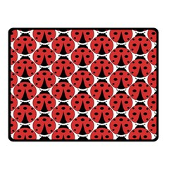 Ladybugs Pattern Double Sided Fleece Blanket (small)  by Cveti