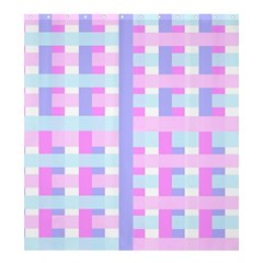 Gingham Nursery Baby Blue Pink Shower Curtain 66  X 72  (large)