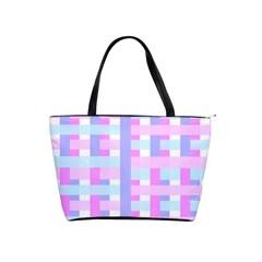 Gingham Nursery Baby Blue Pink Shoulder Handbags