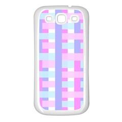 Gingham Nursery Baby Blue Pink Samsung Galaxy S3 Back Case (white)