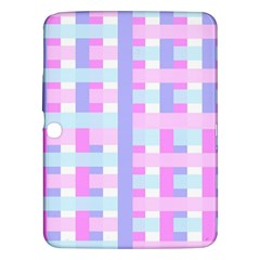 Gingham Nursery Baby Blue Pink Samsung Galaxy Tab 3 (10 1 ) P5200 Hardshell Case