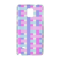 Gingham Nursery Baby Blue Pink Samsung Galaxy Note 4 Hardshell Case
