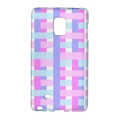 Gingham Nursery Baby Blue Pink Galaxy Note Edge