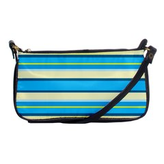 Stripes Yellow Aqua Blue White Shoulder Clutch Bags