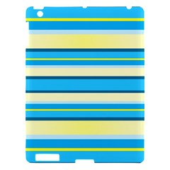 Stripes Yellow Aqua Blue White Apple Ipad 3/4 Hardshell Case by BangZart